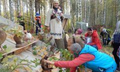Детская игровая площадка на фестивале грибов в Ярском районе