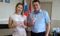 Акция Можгинской районной библиотеки «Ромашковое сердце»