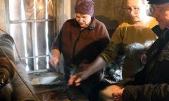 Посещение селтинского шерстобитного производства