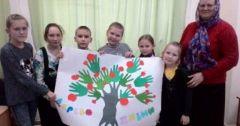 Занятие в детской Воскресной школе «Радуга»
