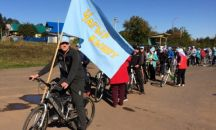 Участие сотрудников Вавожской районной библиотеке в велопробеге «Чагыр кышет» («Голубой платок»)